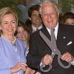 R. Sargent Shrive With Hillary Clinton