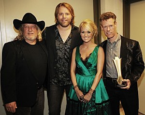 John Anderson James Otto Carrie Underwood and Randy Travis