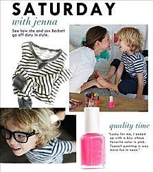 J Crew pink nail polish ad