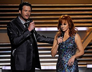 Blake Shelton and Reba