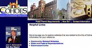Cohoes, NY Website