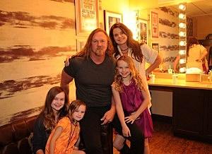 Trace Adkins & Family
