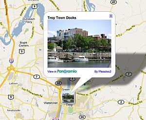screen shot Troy Google Maps