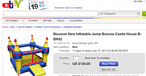 bounce house ebay