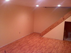This is after the floor being put in, before the trimwork.