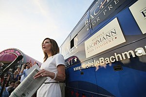 Rick Perry And Michelle Bachmann Address Republican Dinner In Iowa