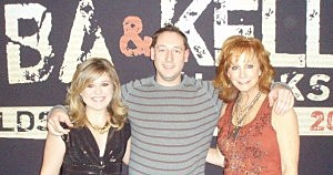 Kevin with Kelly Clarkson and Reba