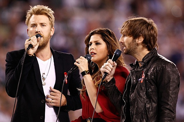 Lady Antebellum sing National Anthem