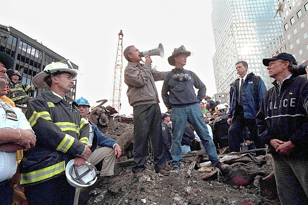 Bush Speaks At Ground Zero