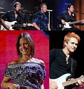 Rascal Flatts, Sara Evans and Hunter Hayes