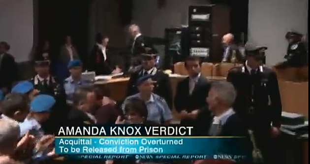 ABC NEWS amanda knox VERDICT