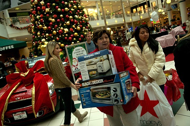 Black Friday Shoppers Hunt For Holiday Bargains