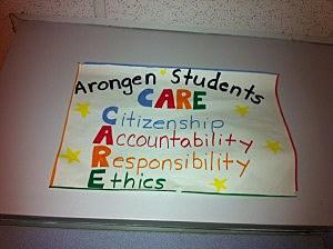Arongen Cares poster rrr