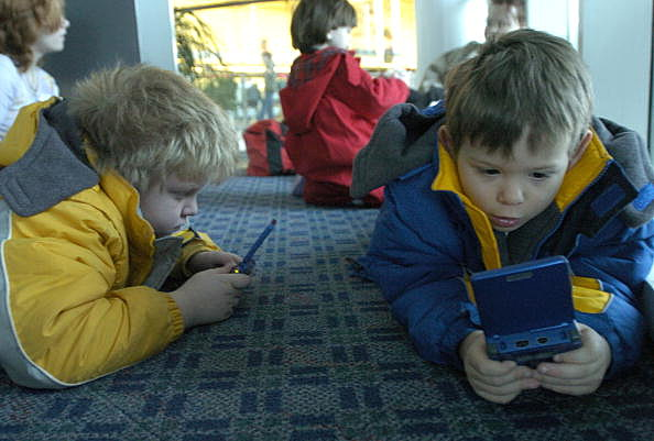 Kids And Their Electronic Toys