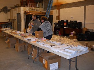 Richie and Selena Putting The Goodies Bags Together