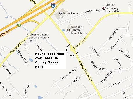 Albany Shaker Road Roundabout
