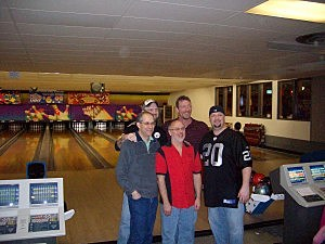 Richie, Scott, Lou, Sean and Jeff At GNA Bowl-a-thon