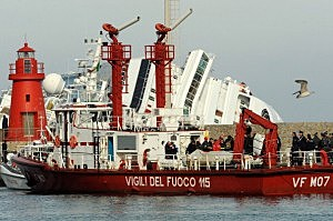 Family And Friends Of Costa Concordia Victims Arrive At Giglio