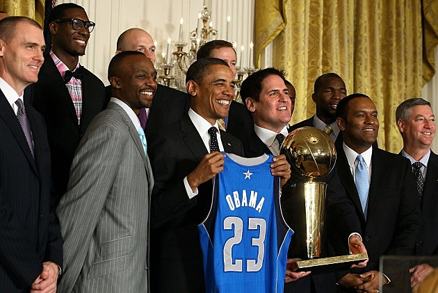 Obama Welcomes NBA Champion Dallas Mavericks To White House