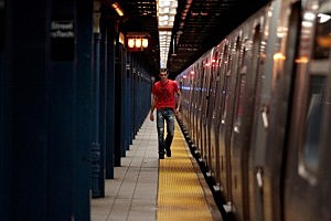 Commuter Train in NYC
