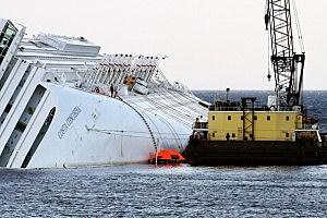 Start of Costa Concordia Defueling Procedures