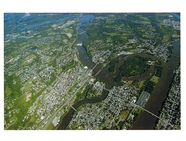 Cohoes aerial shot