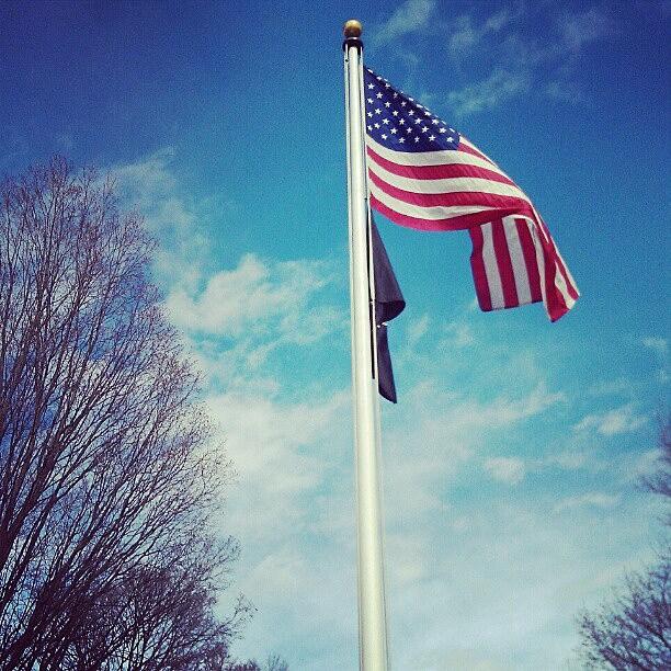 US Flag - Wood Memorial Park - Hoosick Falls, NY