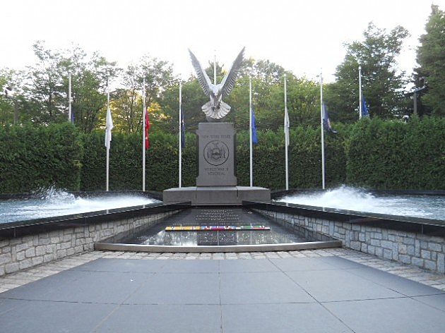 World War II Memorial Next To Library