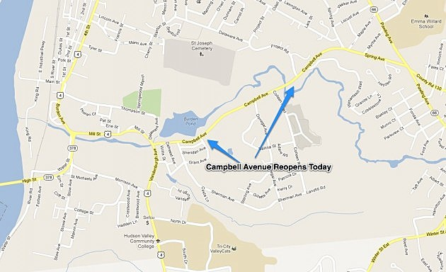 Campbell Avenue In Troy Opens Today