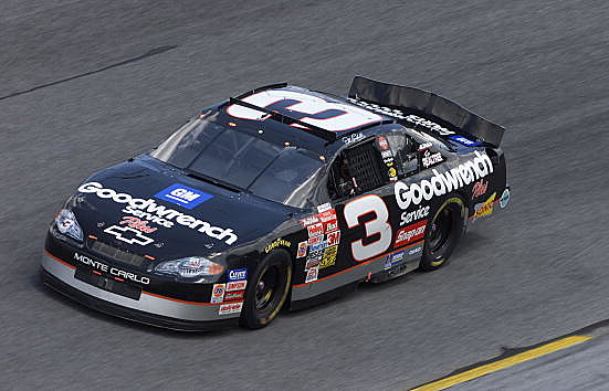 Dale Earnhardt drives the #3 GM Goodwrench Chevrolet