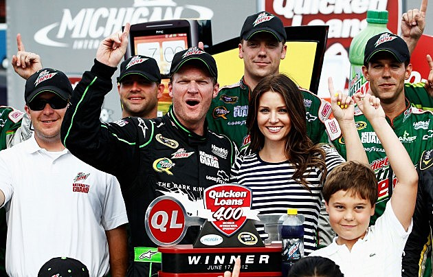 Dale Earnhardt Jr. Wins Quicken Loans 400