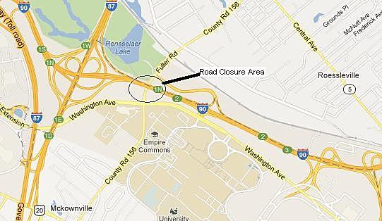 Fuller Road Closed Area