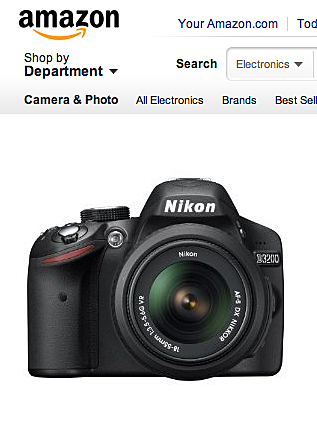 Screen shot Nikon D3200