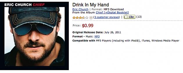 Screen Shot Eric Church Drink in my hand