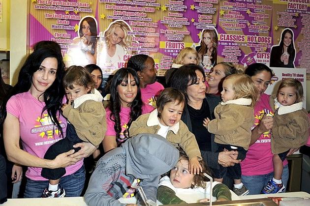 Octomom Nadya Suleman & Her 14 Children Launch Their Shake At Millions Of Milkshakes
