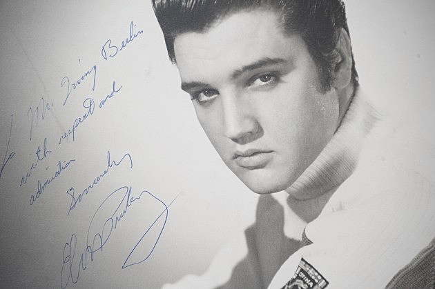 Elvis Presely Autographed Photo to Irving Berlin
