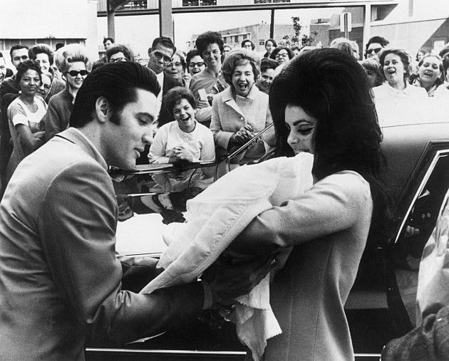 Elvis, Priscilla, and Baby Lisa Presley