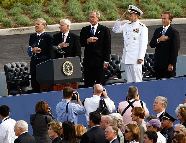 Bush And Gates Dedicate Pentagon 9/11 Memorial