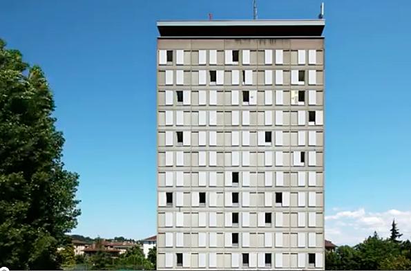 screen shot swiss building with windows