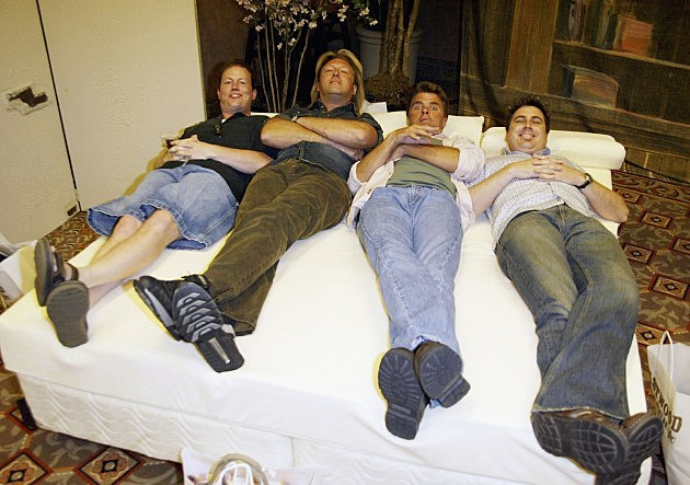 Members of Lonestar chill at the ACM awards