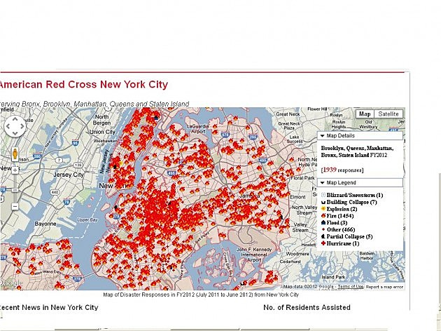 New York City Red Cross Map