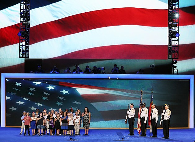 Veterans Saluted At Democratic Convention