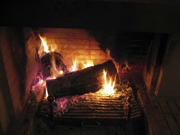 16.12.2004. Madrid. Fireplace