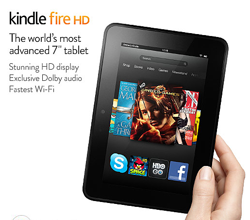 Screen Shot Kindle Fire HD