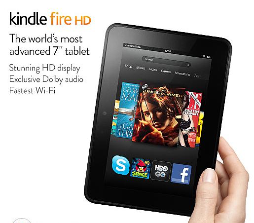 Screen Shot Kindle Fire HD