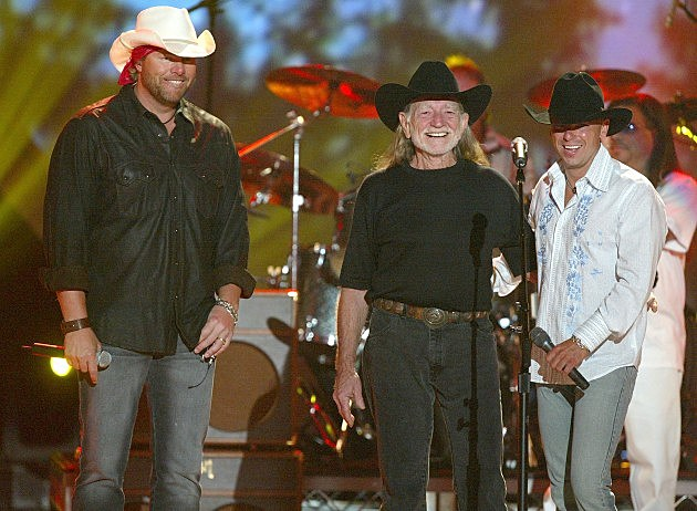 Toby Keith, Willie Nelson, Kenny Chesney