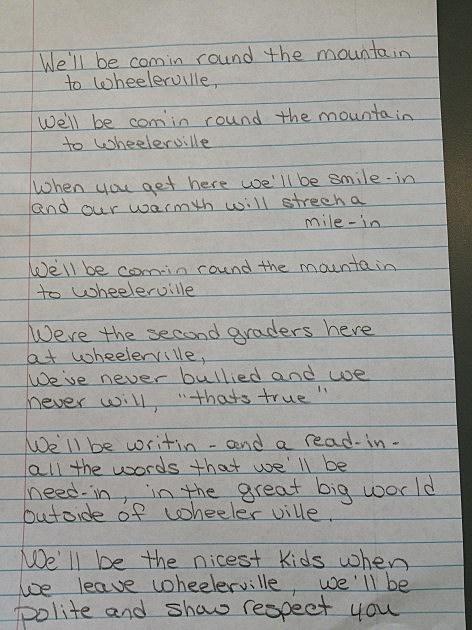 rrr Wheelerville elementary school lyrics
