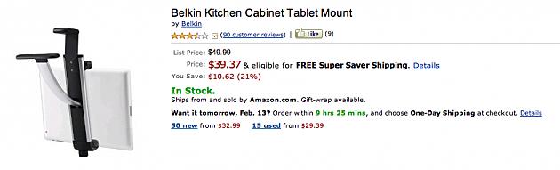 Belkin Kitchen cabinet mount