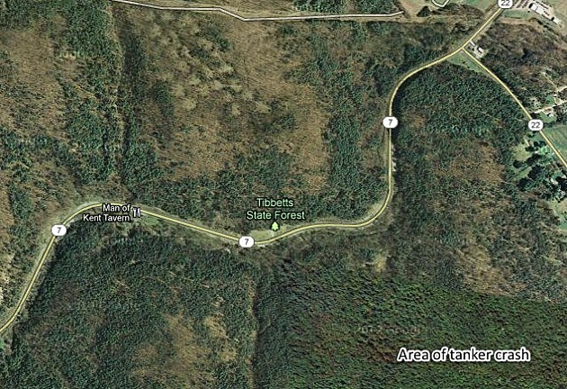 tanker crash location route 7 near hoosick