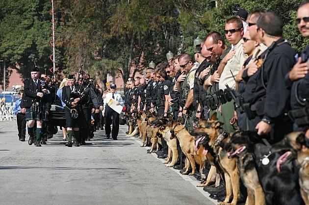 Memorial Service Held For Police Dog